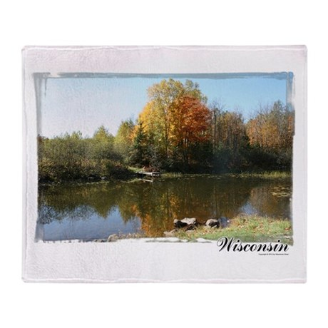 Autumn Pond Throw Blanket