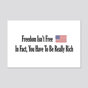 Freedom Isn't Free Mini Poster Print
