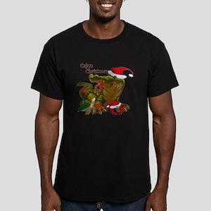 Cajun Christmas Apparel Men's Fitted T-Shirt (dark