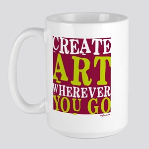 Create Art Large Mug