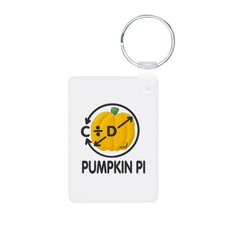 Pumpkin Pi Aluminum Photo Keychain