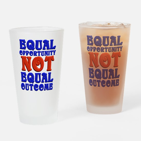 Equal Opportunity Drinking Glass