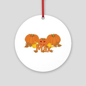 Halloween Pumpkin Max Ornament (Round)