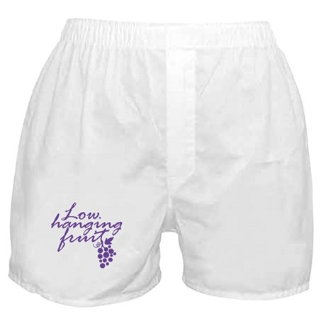 Low Hanging Fruit Grapes Wine Lover Boxer Shorts