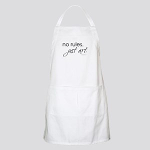 No Rules. Just art. BBQ Apron