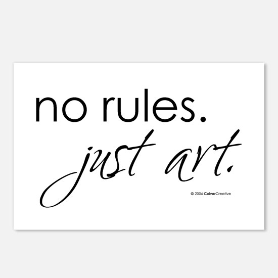 No Rules. Just art. Postcards (Package of 8)