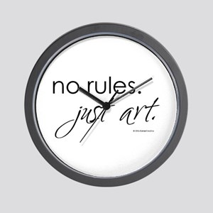No Rules. Just art. Wall Clock