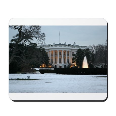 white house snow Mousepad