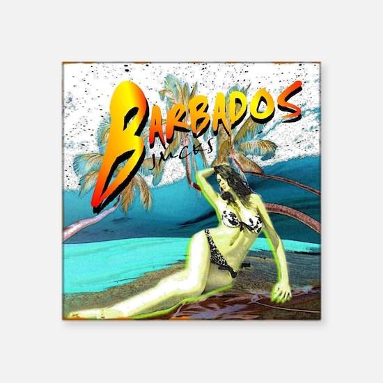 barbados carribbean island beach view art illustra