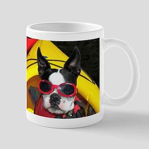 Red Goggled Boston Terrier Mug