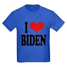 I Love Biden Kids Dark T-Shirt