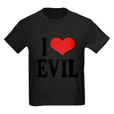 iloveevilblk Kids Dark T-Shirt
