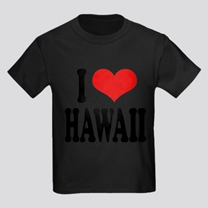 ilovehawaiiblk Kids Dark T-Shirt