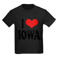 iloveiowablk Kids Dark T-Shirt