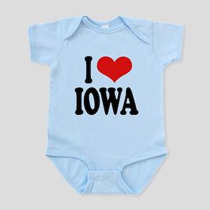 iloveiowablk Infant Bodysuit