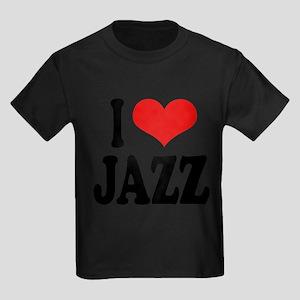 ilovejazzblk Kids Dark T-Shirt