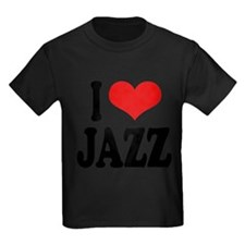 ilovejazzblk Kids Dark T-Shirt