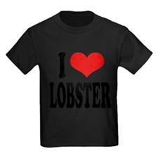 ilovelobsterblk Kids Dark T-Shirt