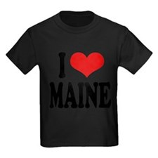 ilovemaineblk Kids Dark T-Shirt