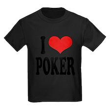 ilovepokerblk Kids Dark T-Shirt