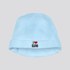 iloveseafoodblk baby hat