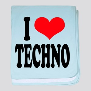 ilovetechnoblk.png baby blanket