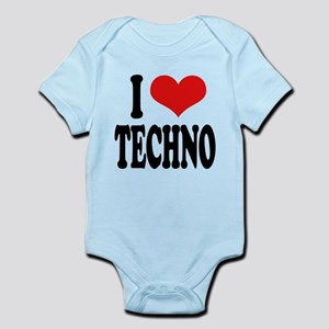 ilovetechnoblk Infant Bodysuit
