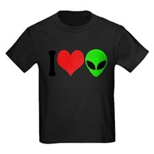 ilovealiensblk Kids Dark T-Shirt