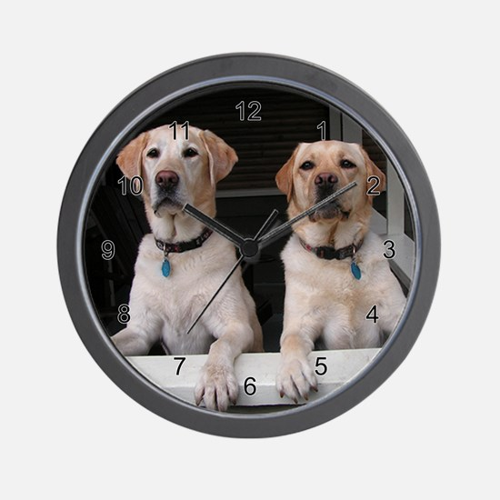 Aug Lab of the Month Wall Clock