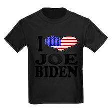 I Love Joe Biden Kids Dark T-Shirt