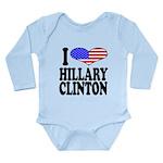 ilovehillaryclintonblk Long Sleeve Infant Body