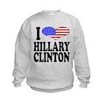 ilovehillaryclintonblk Kids Sweatshirt