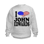 ilovejohnedwardsblk Kids Sweatshirt