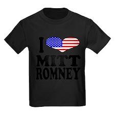 ilovemittromneyblk Kids Dark T-Shirt
