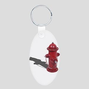 Fire Hydrant Aluminum Oval Keychain