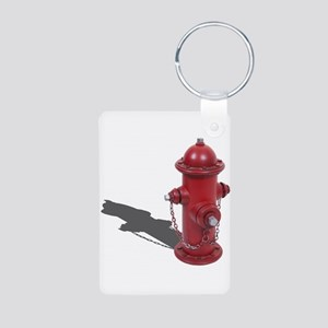 Fire Hydrant Aluminum Photo Keychain