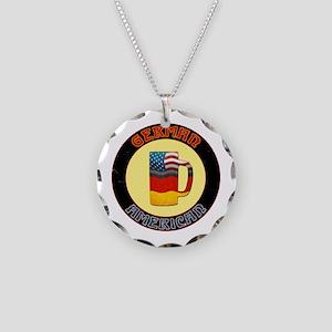 German American Beer Stein Necklace Circle Charm
