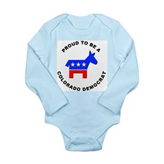 Colorado Democrat Pride Long Sleeve Infant Bodysui