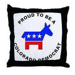 Colorado Democrat Pride Throw Pillow