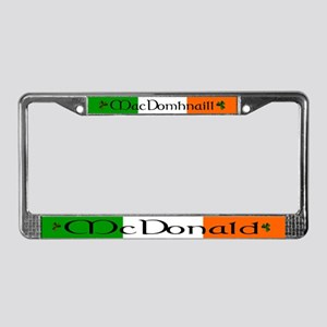 McDonald Name Irish & English License Plate Frame