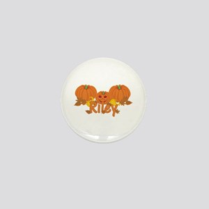 Halloween Pumpkin Riley Mini Button