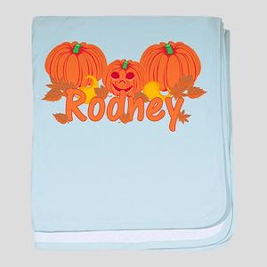 Halloween Pumpkin Rodney baby blanket