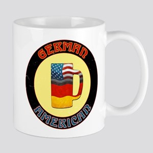 German American Beer Stein Mug
