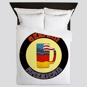 German American Beer Stein Queen Duvet
