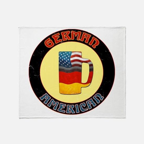 German American Beer Stein Throw Blanket