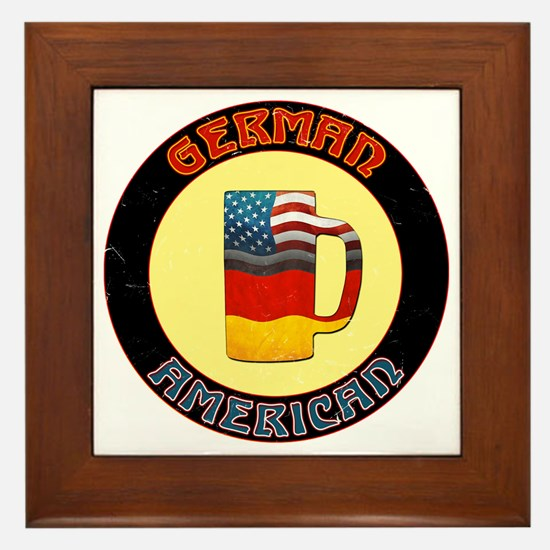 German American Beer Stein Framed Tile