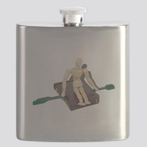 Rowing Briefcase Flask