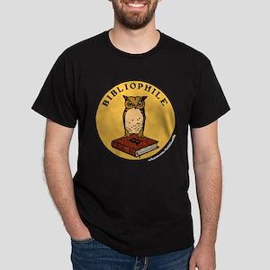 Bibliophile Seal (w/ text) dark T-Shirt