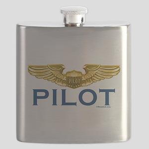Pilot WIngs (gold wings) Flask