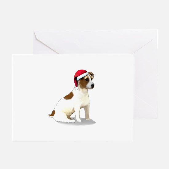 Christmas Jack Russell Terrier Greeting Cards (Pk